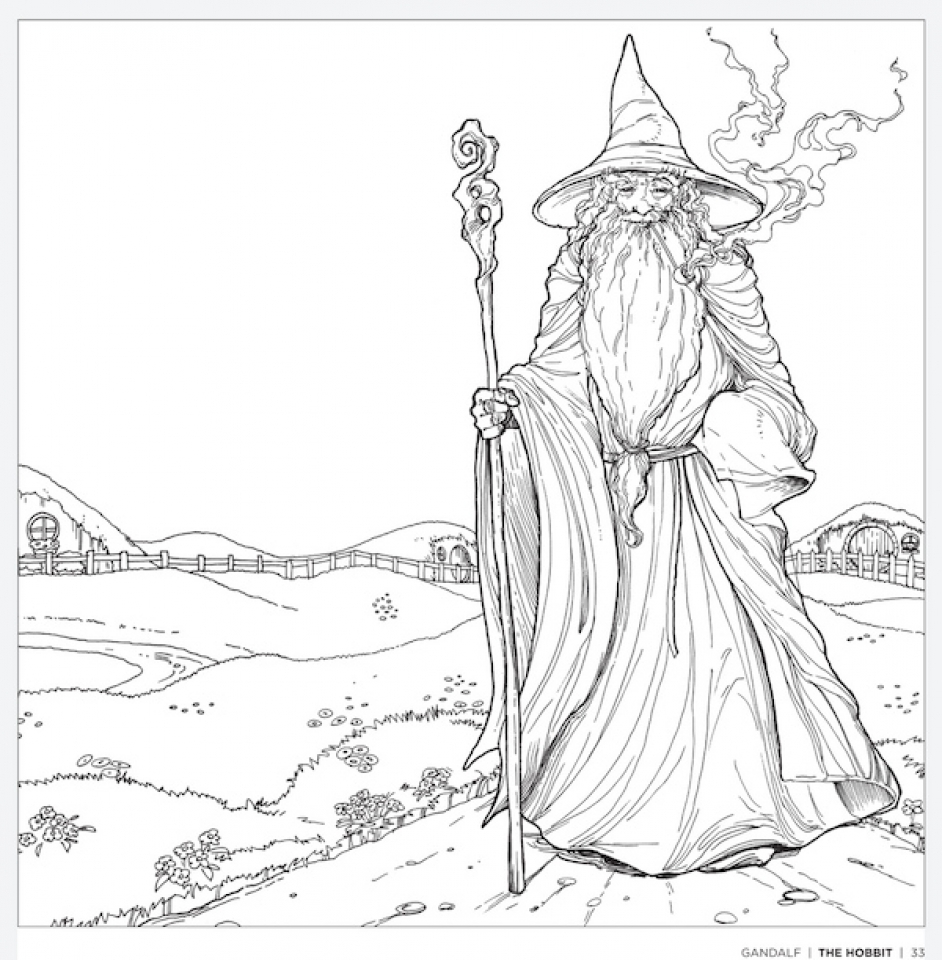 Get This Free The Hobbit Coloring Pages Online 9182 !