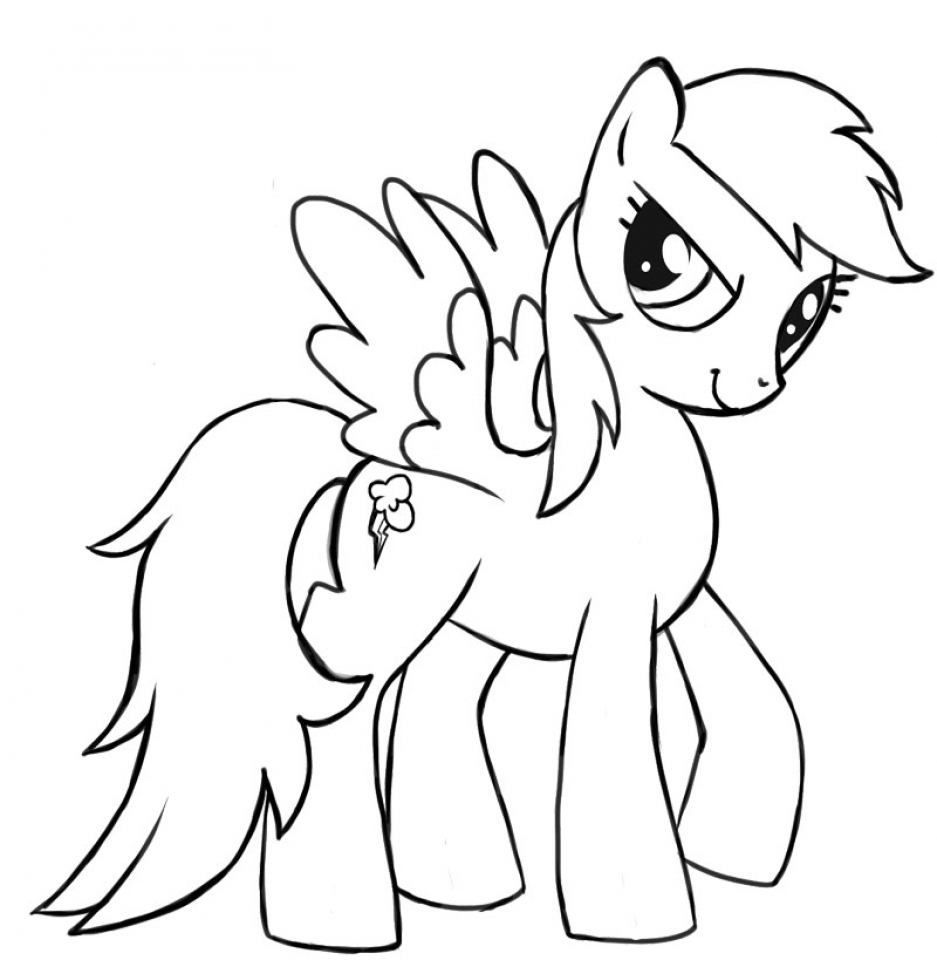 kids printable rainbow dash coloring pages free online 60196 - Rainbow Dash Coloring Page