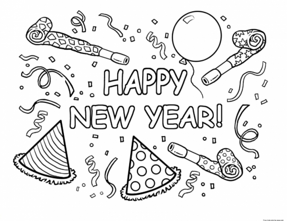 87 Coloring Pages For New Years