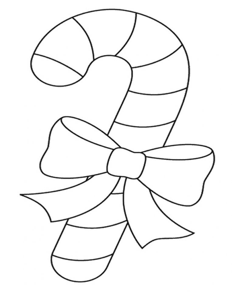 Get This line Candy Cane Coloring Page to Print