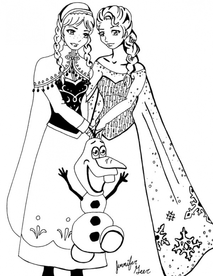 Get This Online Disney Coloring Pages of Frozen Princess ...