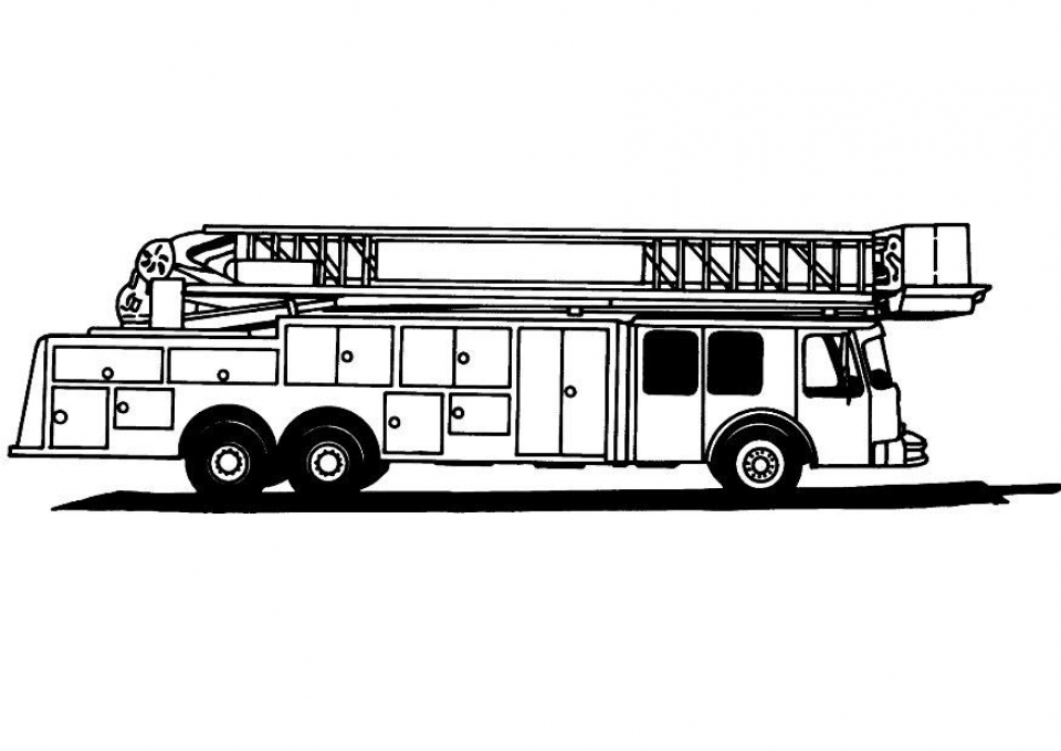 Get This Online Fire Truck Coloring Page for Kids 51259