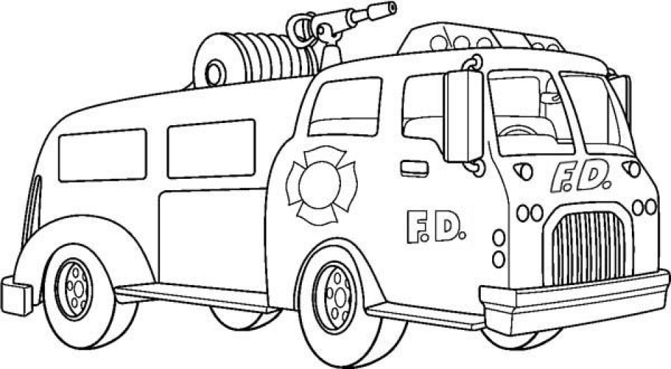 Get This Online Printable Fire Truck Coloring Page 49299 !