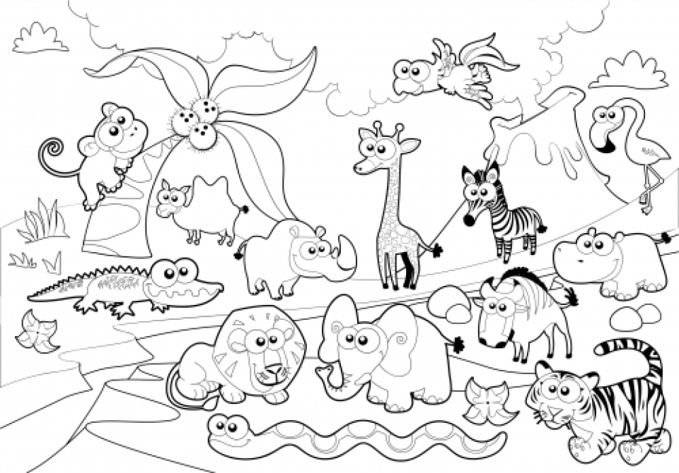 Get This Online Zoo Coloring Pages for Kids 51254