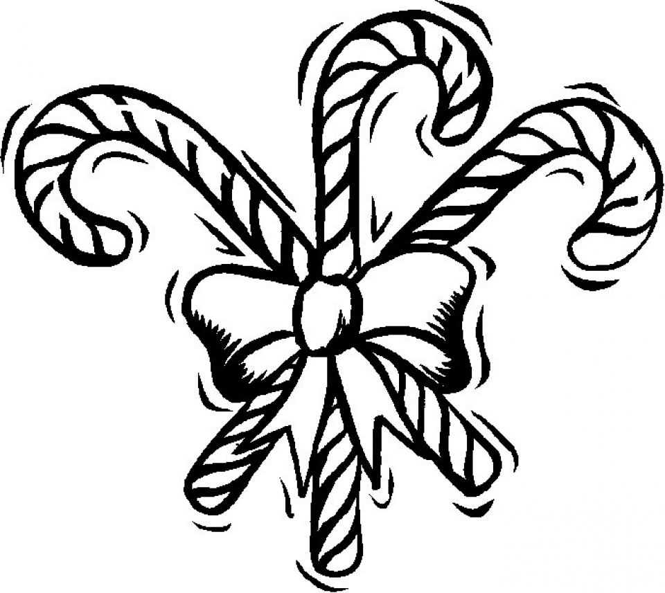 Get This Preschool Printables of Candy Cane Coloring Page