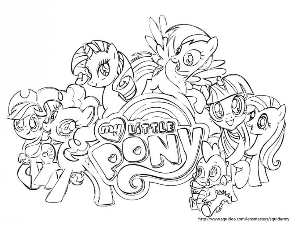 Get this printables for toddlers my little pony friendship for Pony coloring pages online