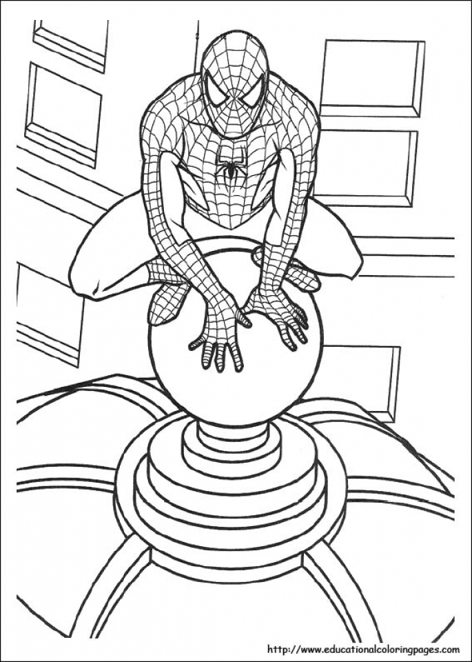 Get this spiderman marvel superhero coloring pages for Spiderman coloring page printable