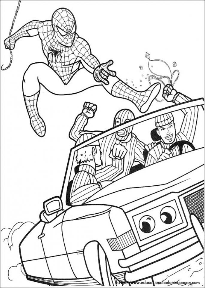 Spiderman Marvel Superhero Coloring Pages Printable 51426