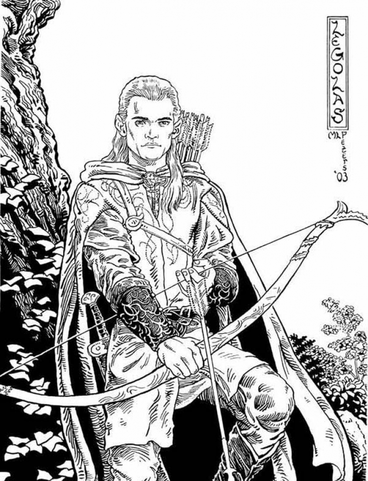 Get This The Hobbit Coloring Pages Free to Print 7839 !