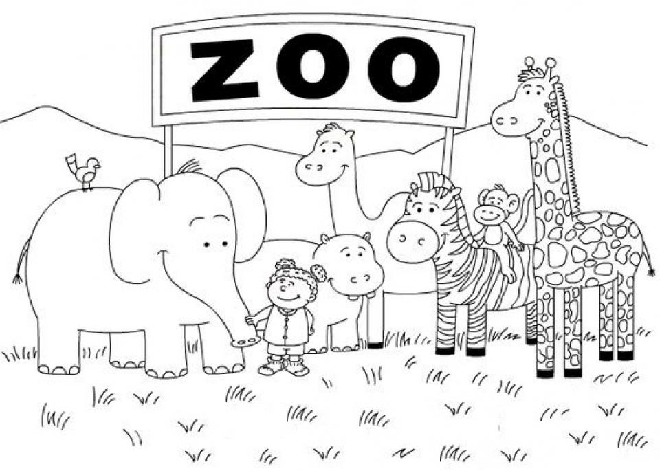 Get this online peppa pig coloring pages 63038 for Zoo coloring pages printable