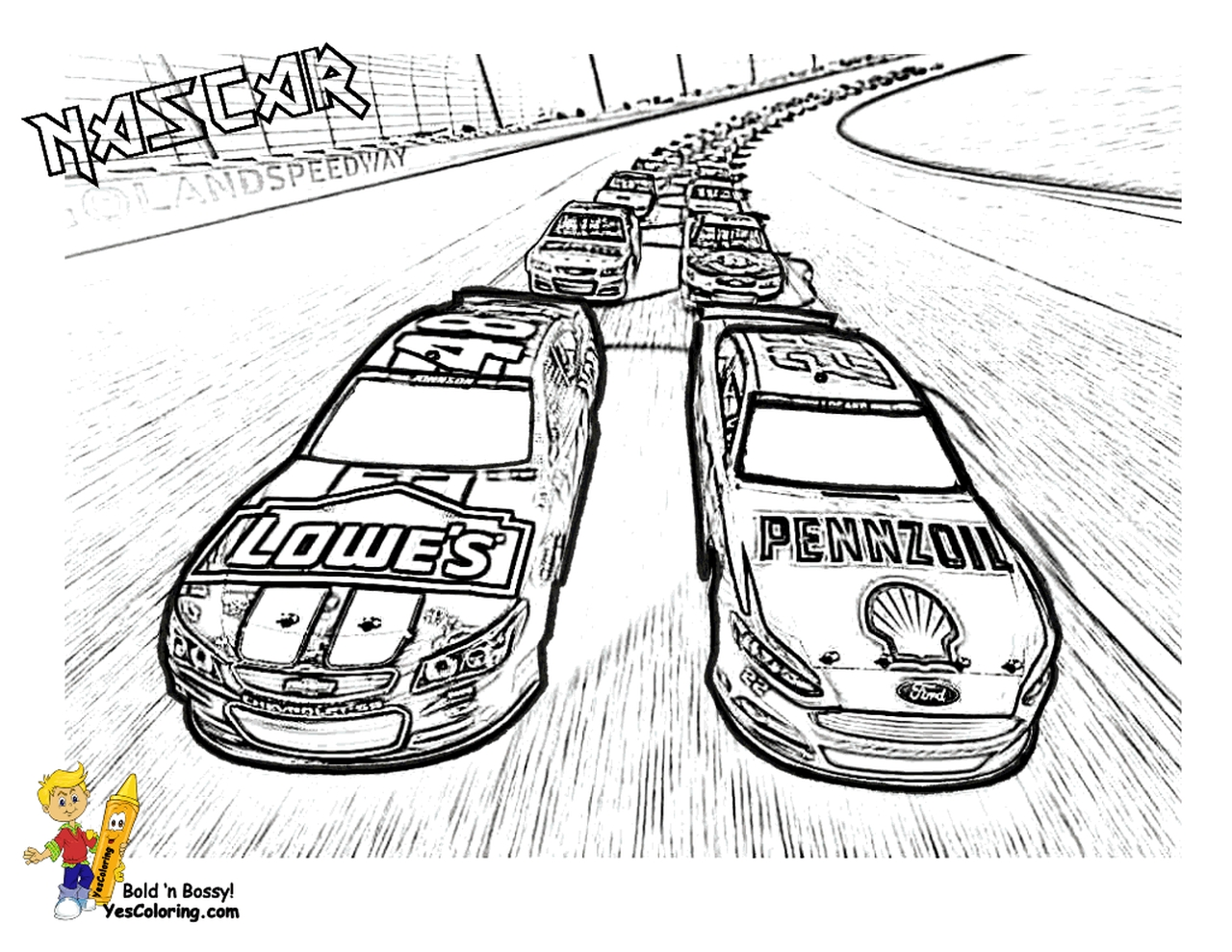 american nascar racing car coloring pages for boys 62917 - Nascar Coloring Pages
