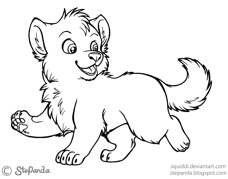 Get This Cute Baby Wolf Coloring Pages 47751