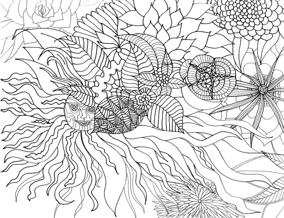 Get This Free Adults Printable of Summer Coloring Pages 32871