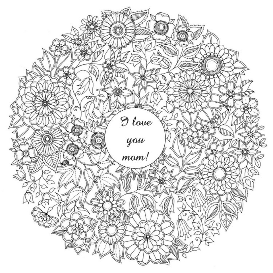 Get This Free Mothers Day Coloring Pages For Adults To Print Out