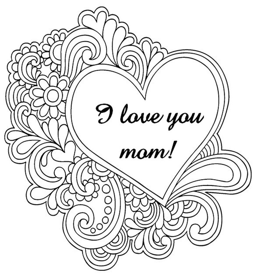 free mothers day coloring pages for adults to print out 37120 - Free Mothers Day Coloring Pages