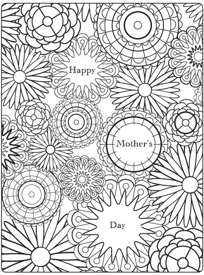 Free Motheru0027s Day Coloring Pages For Adults To Print Out U2013 56702