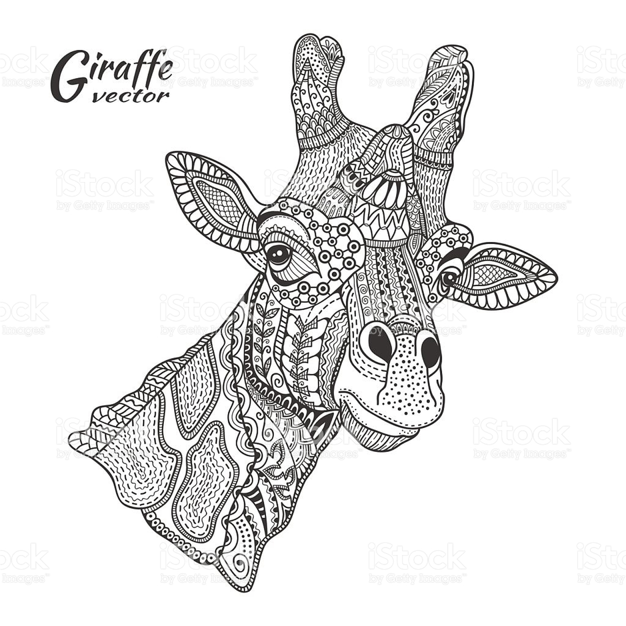Coloring pages for adults zentangle - Giraffe Coloring Pages For Adults Zentangle Art 88912