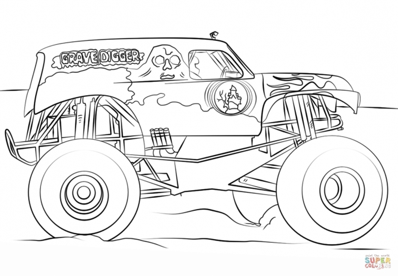 Of Monster Trucks Coloring Pages On Computer Of Best