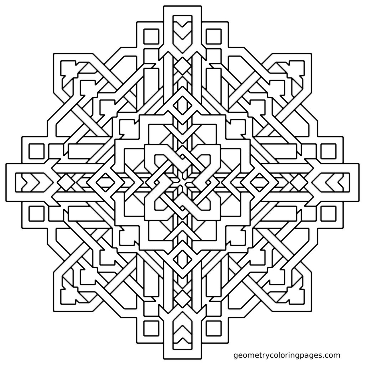 Get this hard geometric coloring pages to print out 04523 for Hard printable coloring pages
