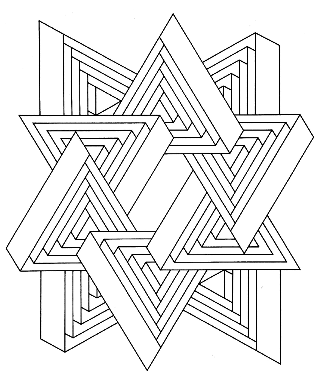 hard illusion coloring pages - photo#29
