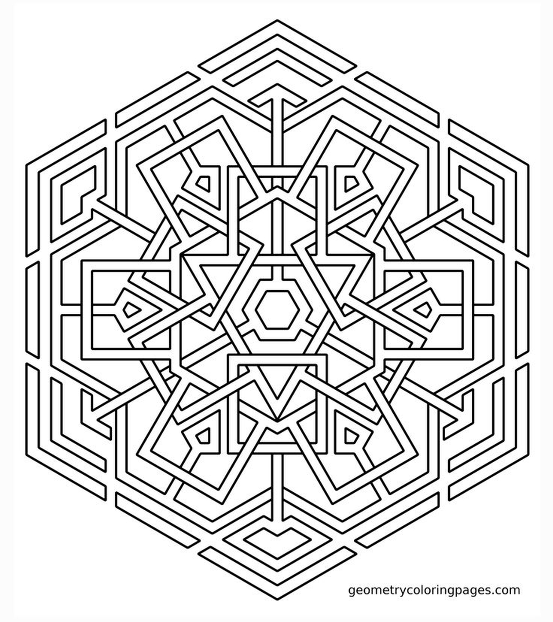 hard geometric coloring pages to print out 97316