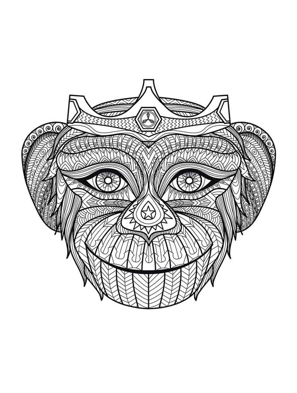 get this monkey coloring pages for adults 067201