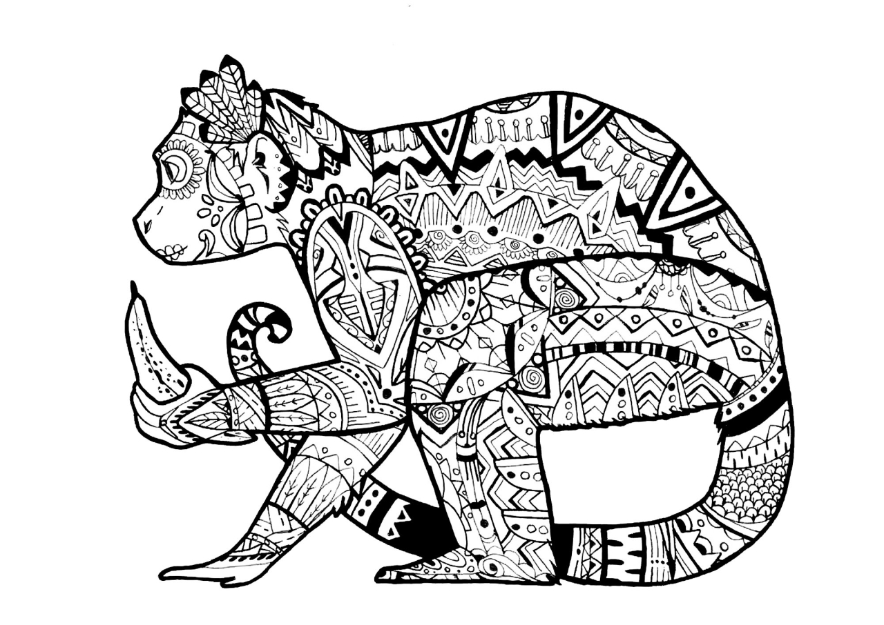 get this monkey coloring pages for adults 39041