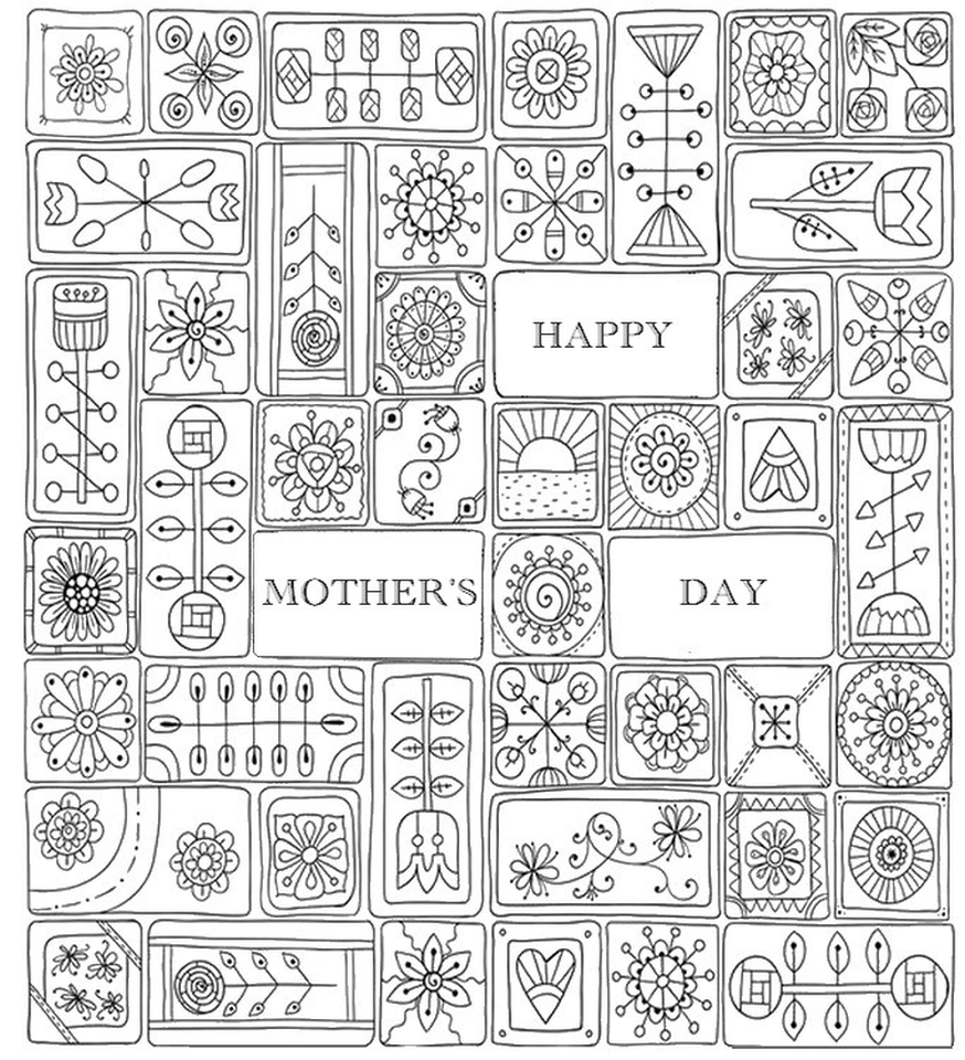 get this mother u0027s day coloring pages for adults printable 44921