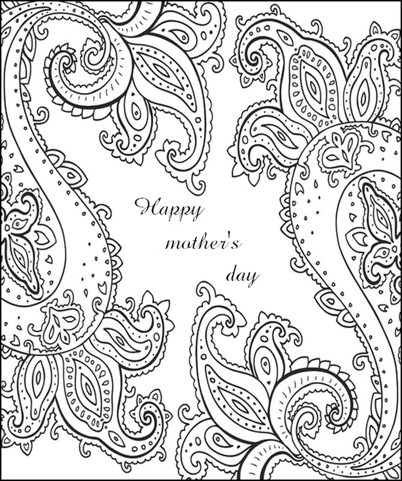 Get this mother 39 s day coloring pages for adults printable for Mothers day coloring pages