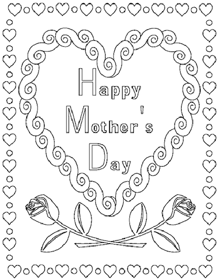 Mother S Day Coloring Worksheet : Get this online printable mother s day coloring pages for