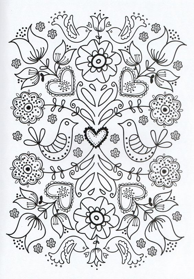Online Printable Mothers Day Coloring Pages For Adults 43910