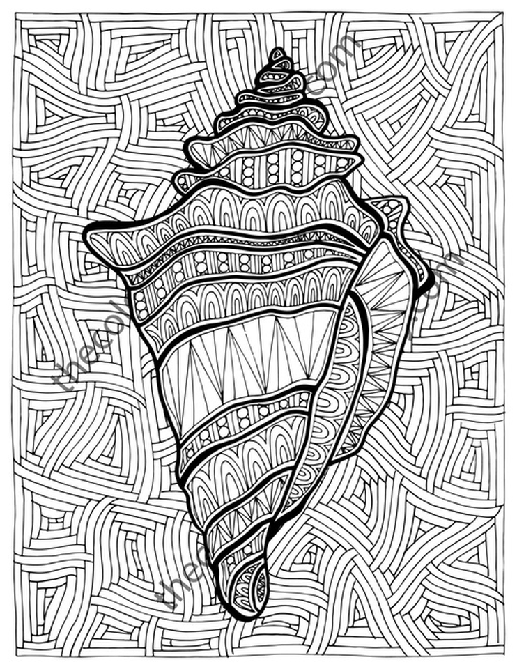Online Summer Printable Coloring Pages for Adults – 43992