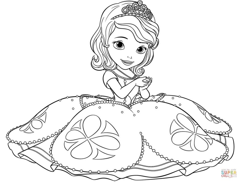print out coloring pages princess - photo#27