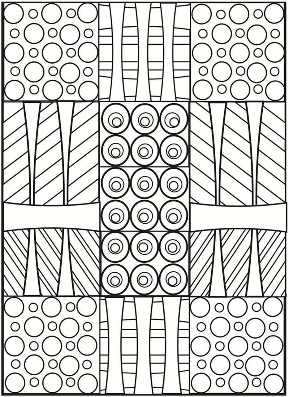 Get this printable geometric coloring pages for adults for Geometric coloring pages online