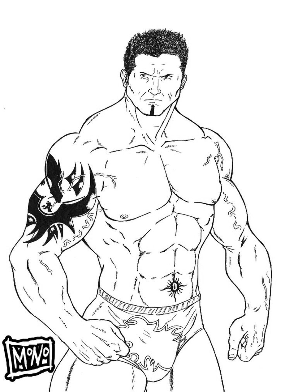 Get This Printable wwe coloring pages batista 30175