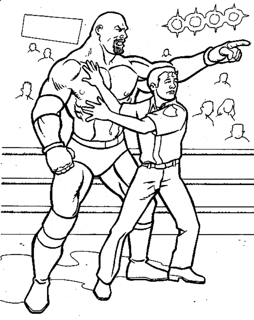 20 Free Printable WWE Coloring Pages
