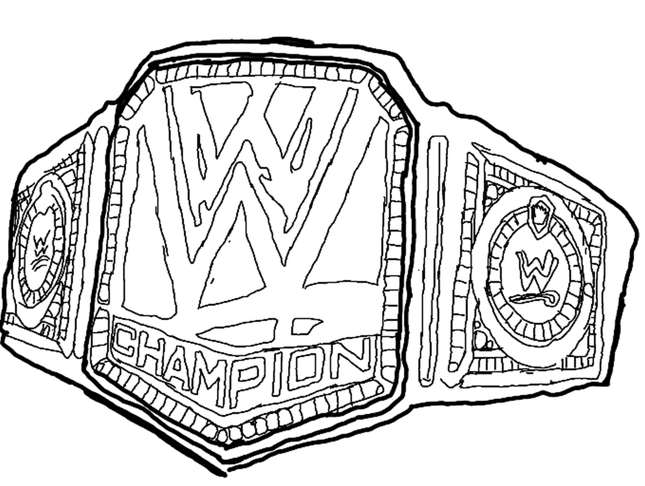Get This Printable wwe coloring pages of belts 29185
