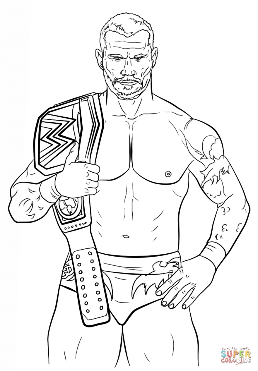 Wwe coloring pages to print - Printable Wwe Coloring Pages Randy Orton 21783