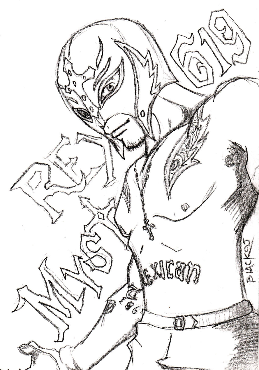 get this printable wwe coloring pages rey mysterio 41902