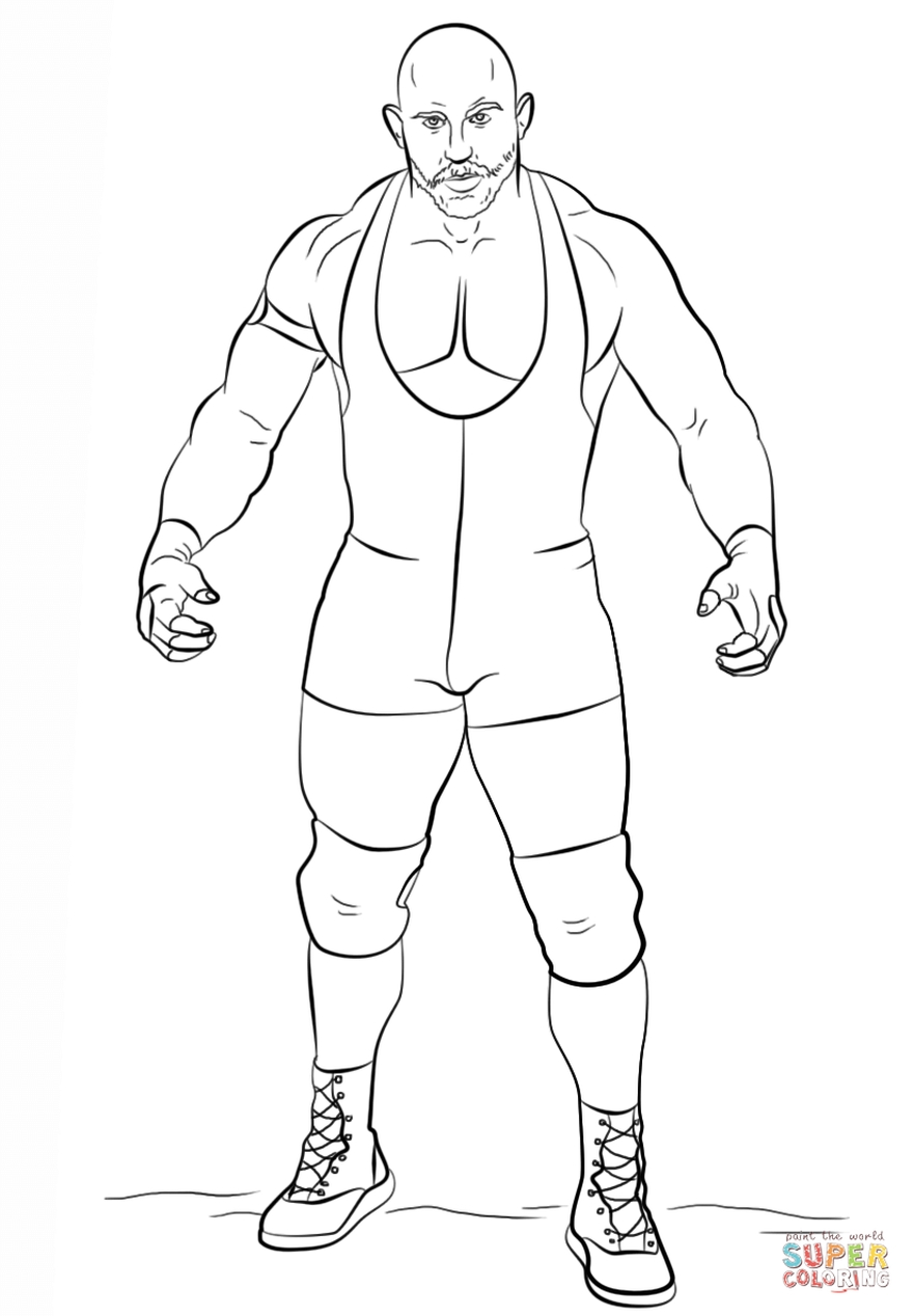 Get This Printable wwe coloring pages ryback 43961