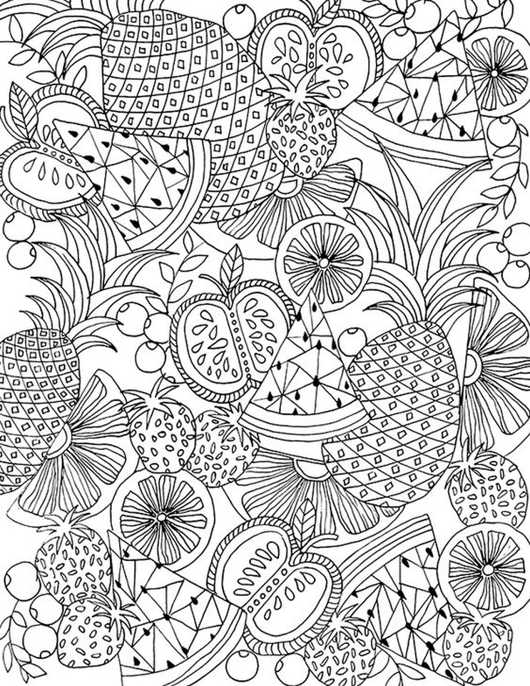 20 free printable summer coloring pages for adults for Free printable coloring pages summer
