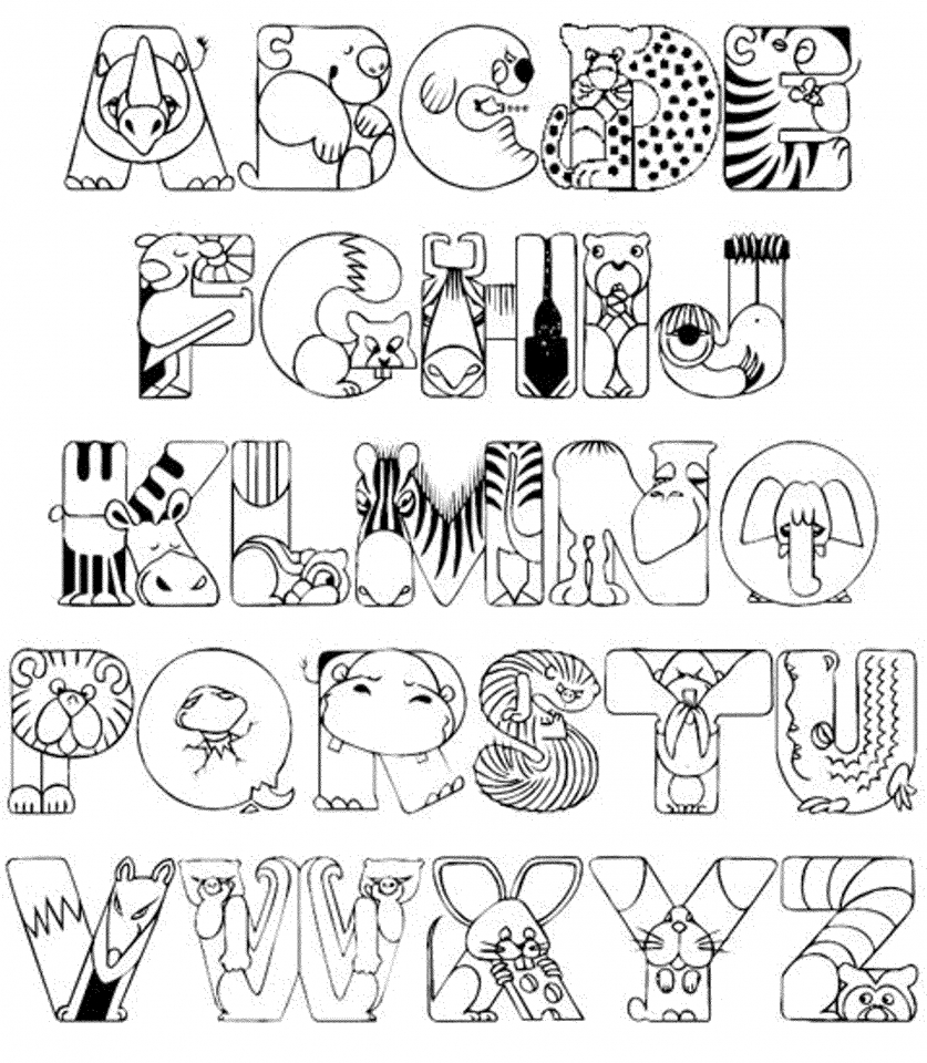 Get this alphabet coloring pages for kids 61548 for Alphabet pages to color