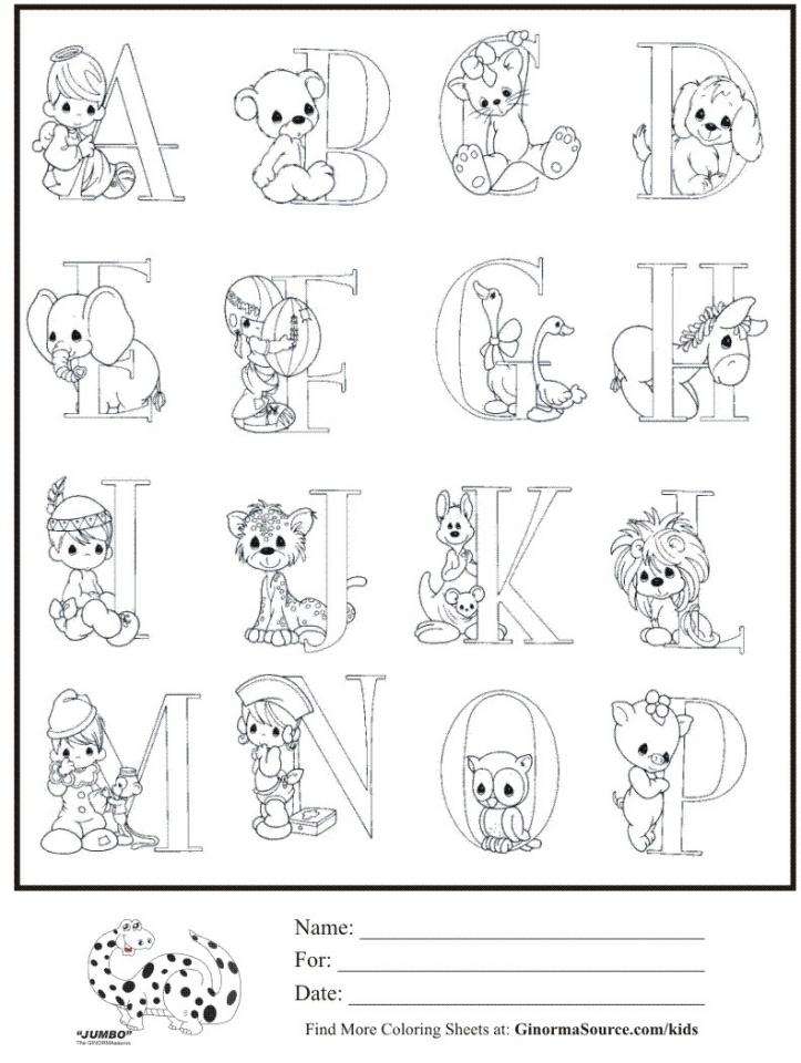 Alphabet Coloring Pages For Kindergarten Students 80680