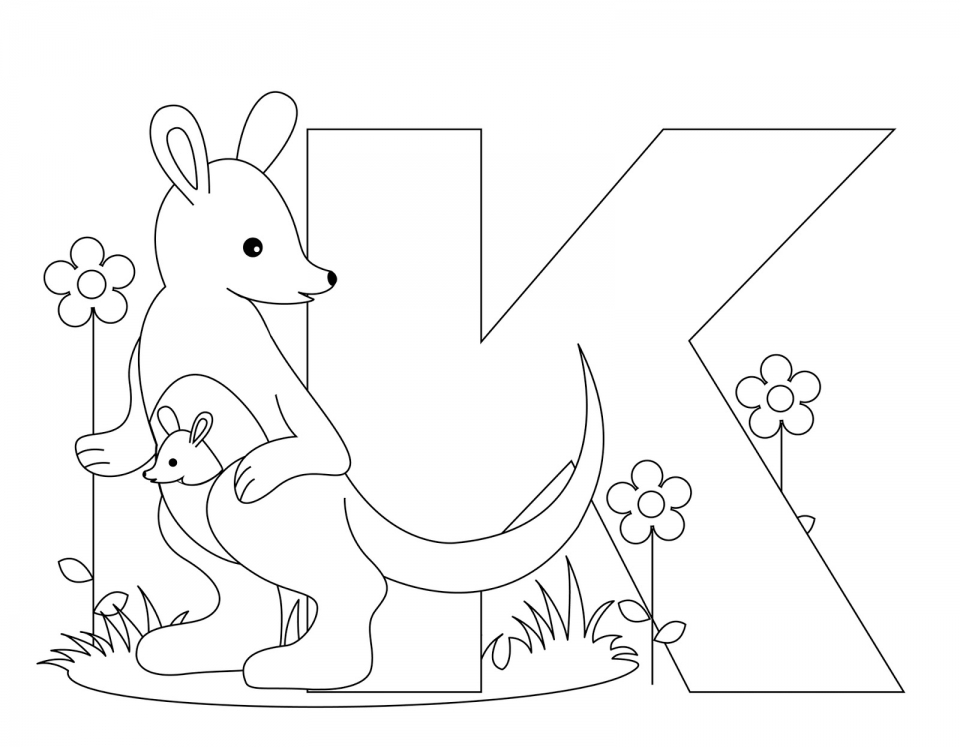 alphabet coloring pages kids printable 36578 - Alligator Coloring Pages Printable