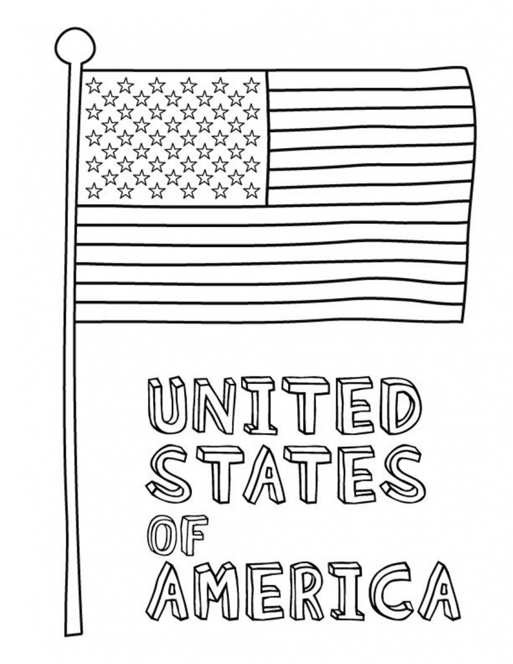Get This American Flag Coloring Pages for First Grade 78942