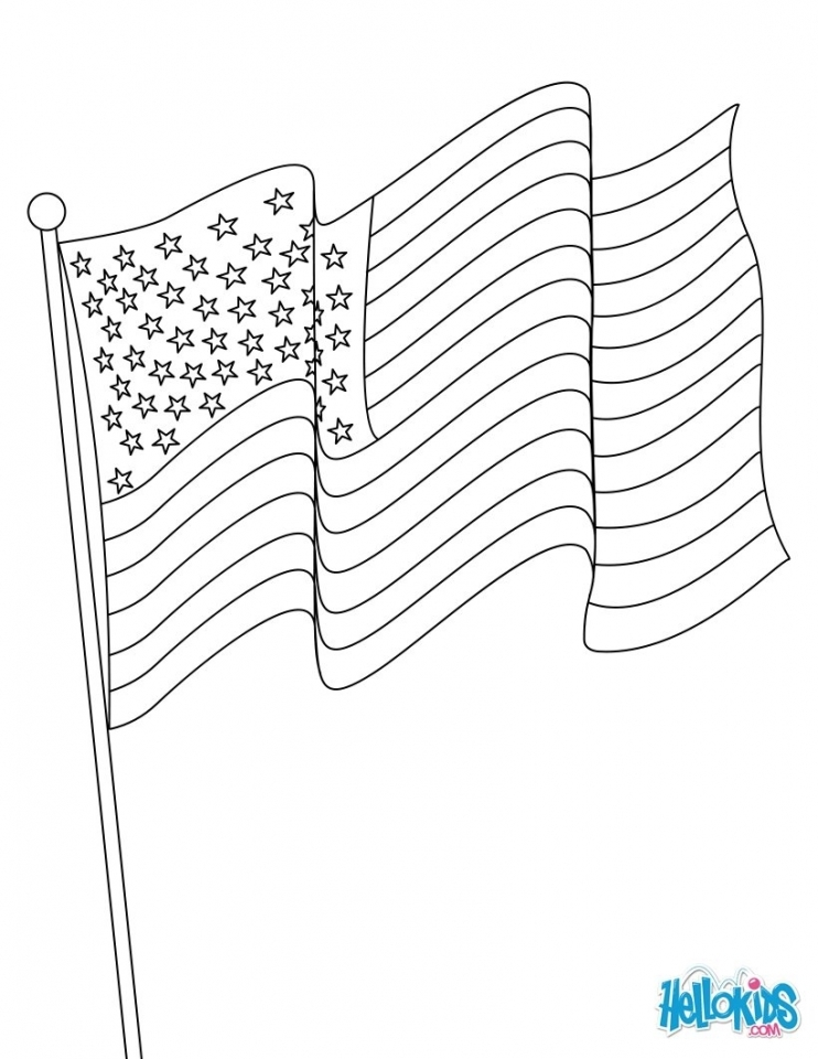 Get This American Flag Coloring