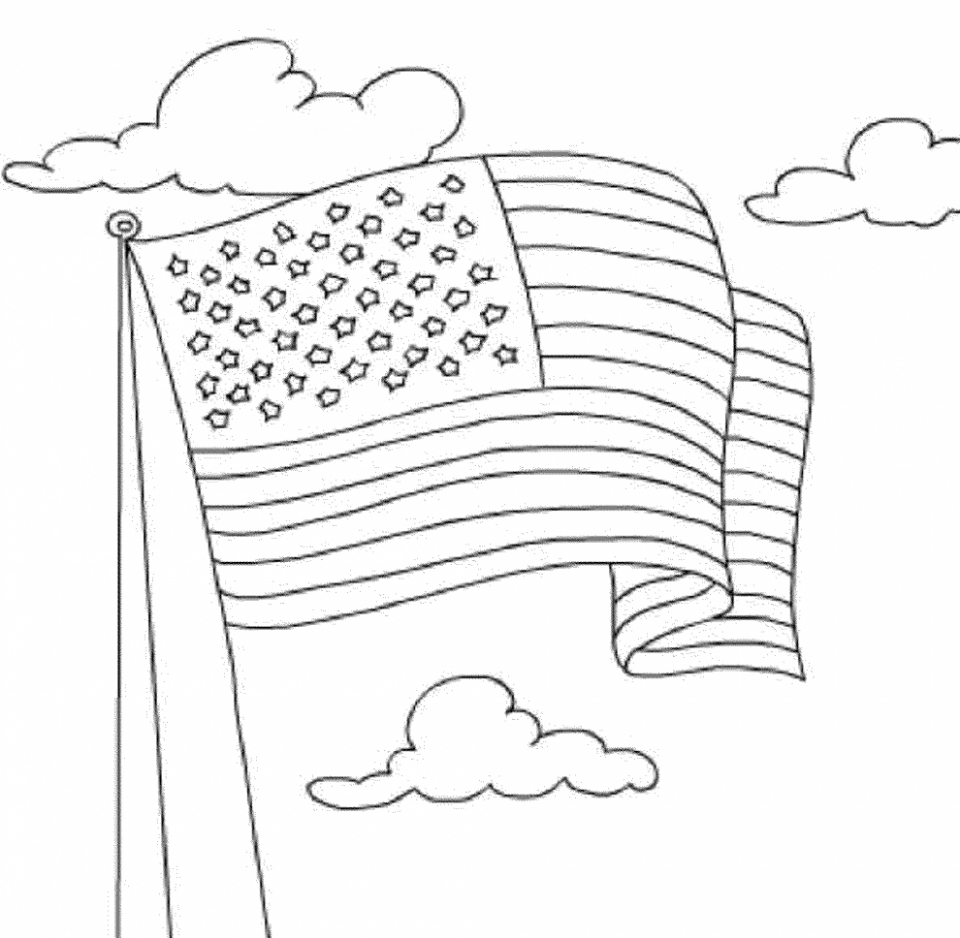 Book care coloring sheet - American Flag Coloring Pages Kids Printable 36481