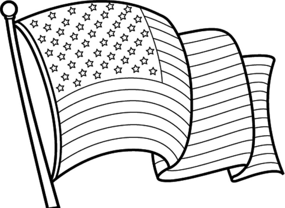 Get This American Flag Coloring Pages to Print for Kids 46159