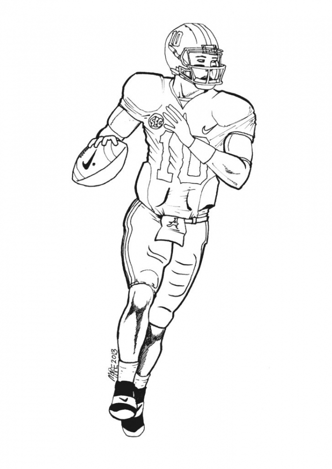 Get This American Football Player Coloring Pages Kids Printable