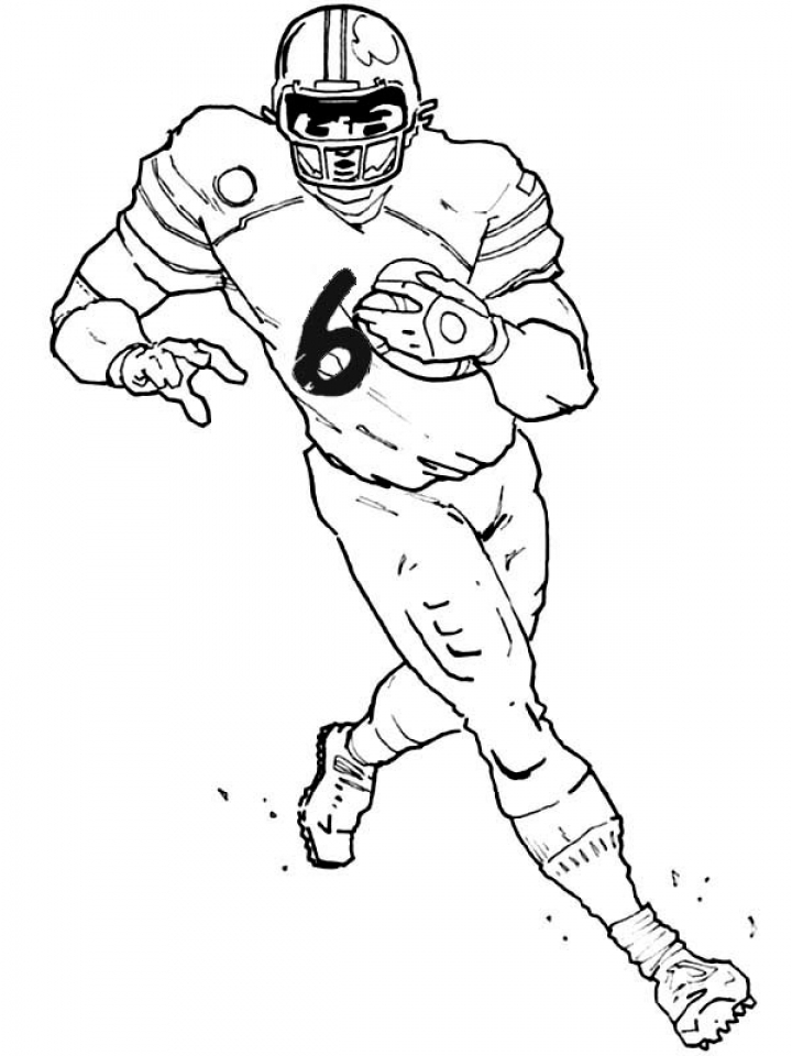 american football player coloring pages - photo#11